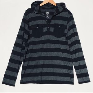 Men's striped long sleeve hoodie